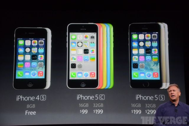 Gama completa de iPhones y sus precios