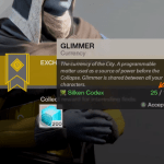 Cryptarch Glimmer Farming