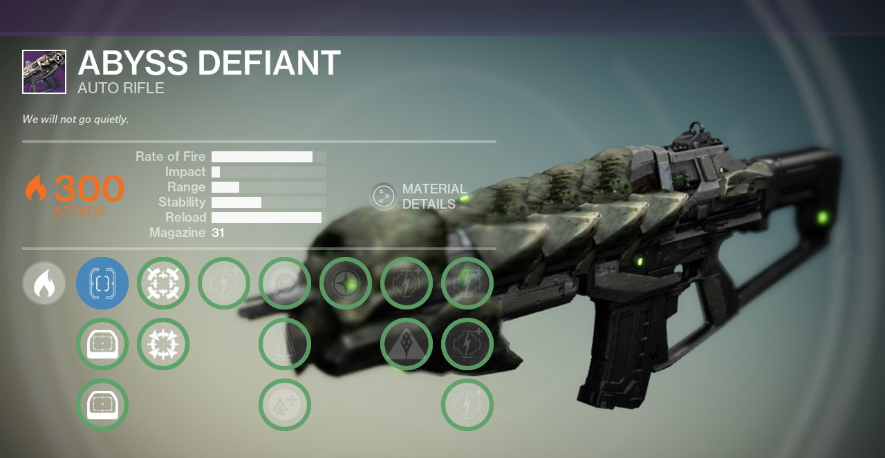 Abyss defiant fang of ir y 251 t oversoul edict word of crota necrochasm