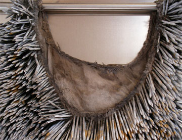 detail of nail dress by Louise Richardson