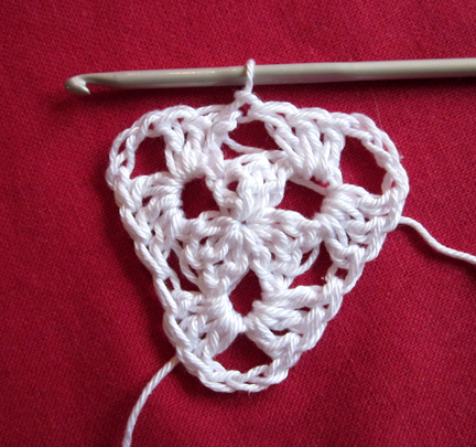 Step 7 Christmas Crochet Bunting