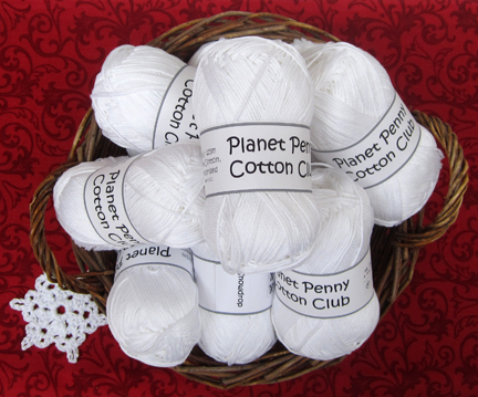 Planet Penny Cotton Club yarn in Snowdrop