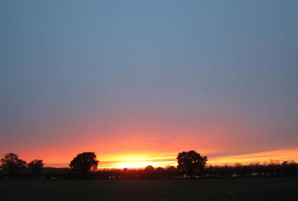 Norfolk November sunset