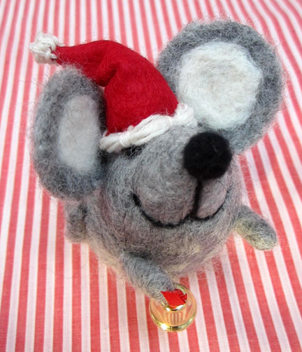 needlefelt Mouse for Advent day 2