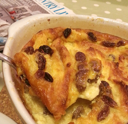 Croissant Bread and Butter Pudding