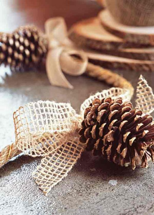 pine cone and bows Christmas Countdown