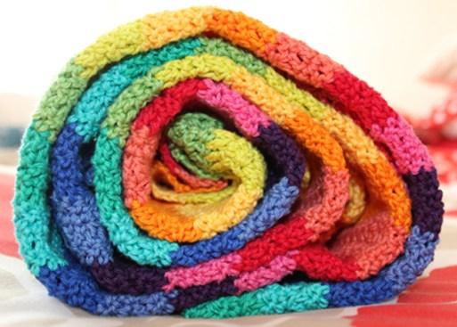 Ripple Blanket - Planet Penny  Cotton - Attic 24 pattern