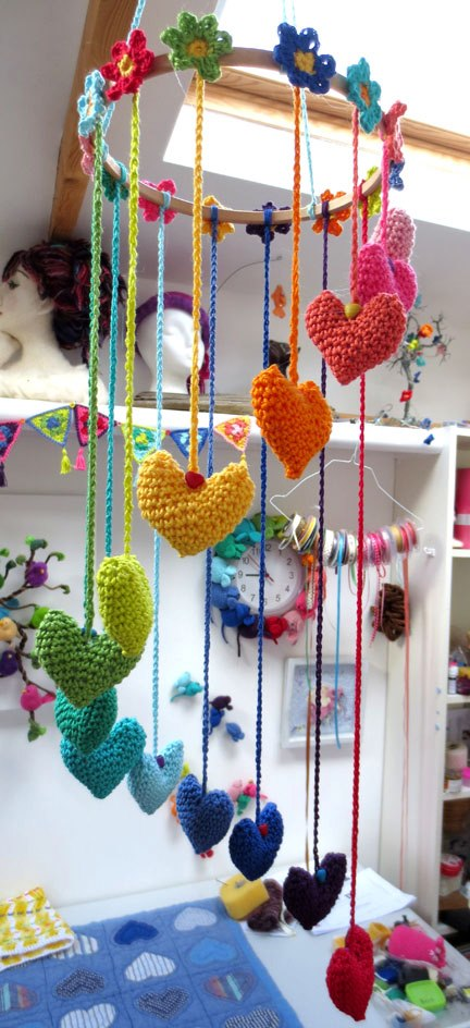 Hearts and Flowerts Mobile from Planet Penny