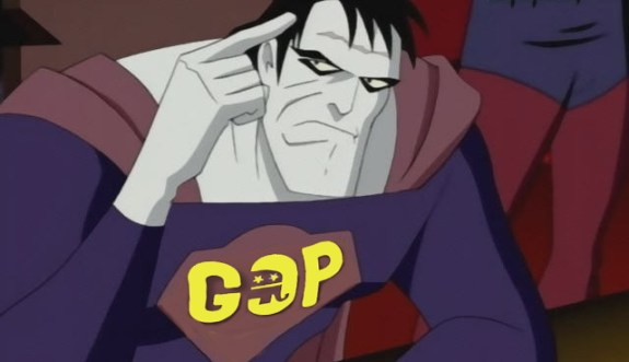 Bizarro Superman GOP