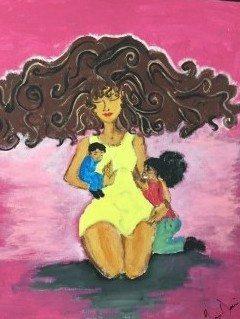 Art by Homefront client Gennie D., who participates in the non-profit's ArtSpace program.