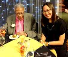 """Former Princeton Township Mayor Jim Floyd, 94, was one of the """"juniors"""" at the centenarian prom Thursday night."""