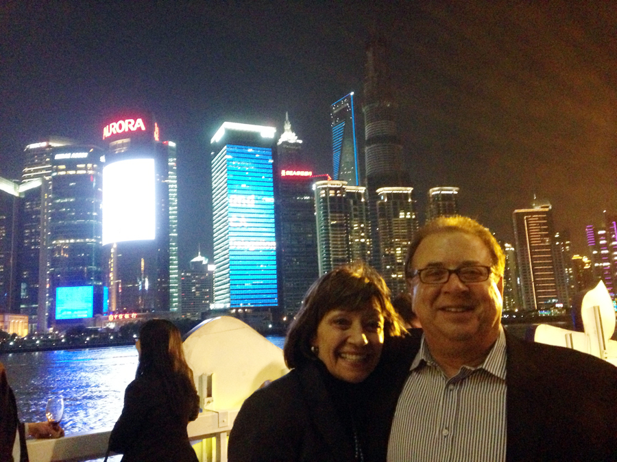 On the Shanghai River: Secretary Ross and Michael Gallo of Joseph Gallo Farms and a member of California State Board of Food and Agriculture.