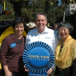 Assembly Ag Committee Chair Susan Eggman (L), California State Fair CEO Rick Pickering, Assemblymember Mariko Yamada.