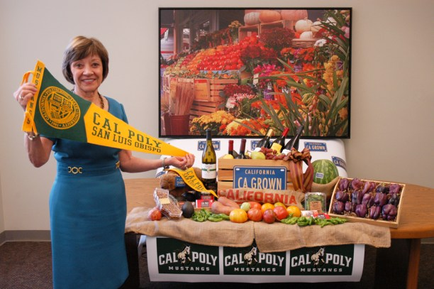 "CDFA Secretary Karen Ross is wagering a basket of California Grown products on the second annual ""Ag Day"" football game tonight between Cal Poly San Luis Obispo and New Mexico State in Las Cruces, New Mexico. The challenge was made by New Mexico Secretary of Agriculture (and archrival) Jeff Witte. If (when) Cal Poly wins, a basket of New Mexico agricultural products will be sent to California.  Go Mustangs!"