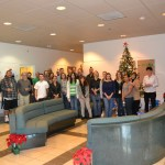 The Plant Pest Diagnostics Center filled the lobby with holiday cheer - and plenty of donated canned goods.