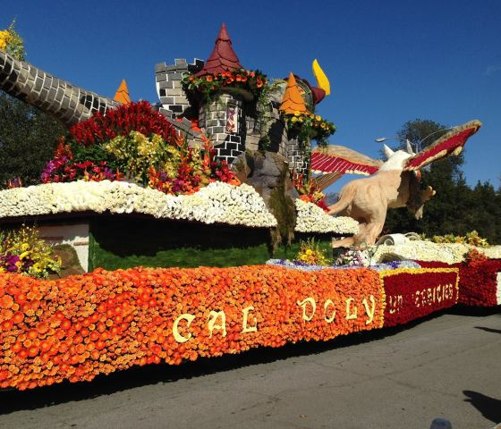 Cal Poly's float at the 2015 Rose parade