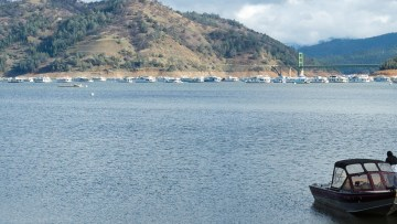 Lake Oroville this year.