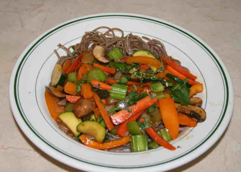 Thai Stir Fry – Veggies and Noodles
