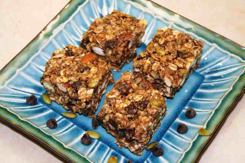Nutty Crunch Chocolate Vegan Granola Bars
