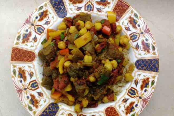 Chickpea and Eggplant Curry