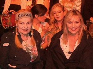 Vivienne Westwood and Kim Katrall 1st row