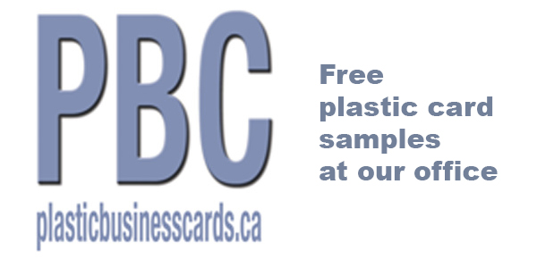 Free plastic card samples at our office