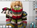 Hachune MIq widget on desktop