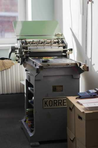 Korrex Stuttgart 1968 proof press at Papera Press studio
