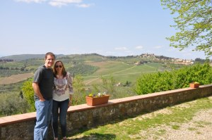 A view of the Chianti countryside.