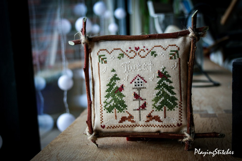 Little House Needleworks Cardinal Winter PlayingStitches-2-2