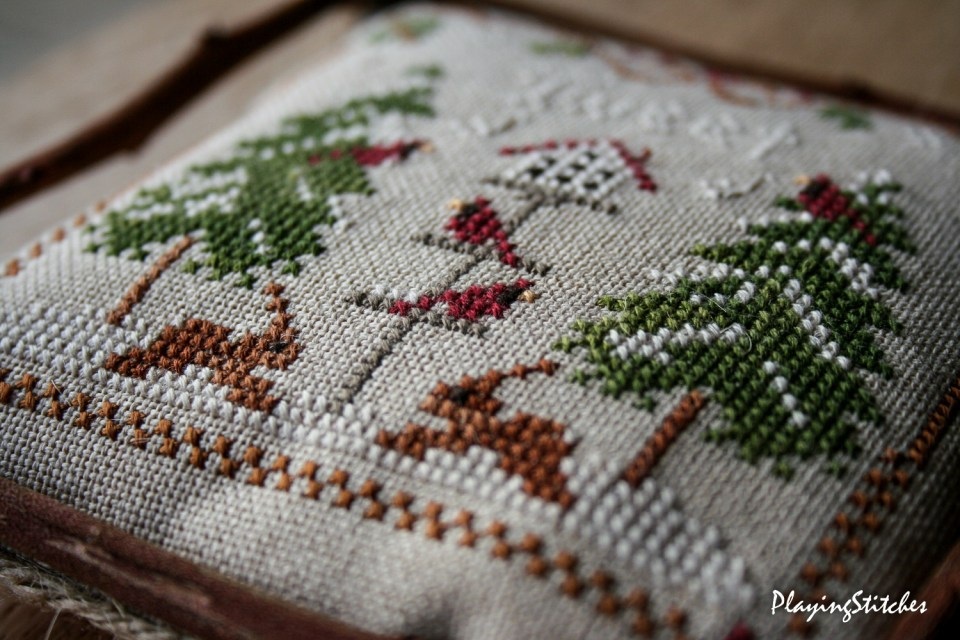 Little House Needleworks Cardinal Winter PlayingStitches-9
