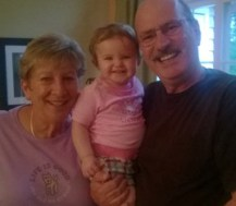 Aunt Kate & Uncle Joe with their granddaughter