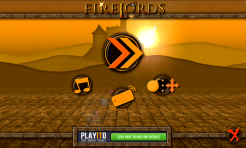 FireLords - menu screen