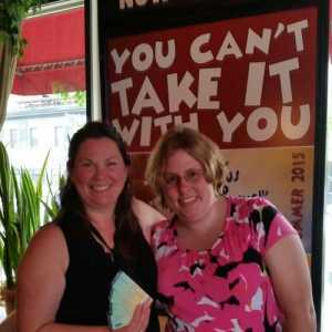 Mary Aalgaard and Beth Z. Hey, we're A to Z! Lovin' and laughin' during You Can't Take It With You at The Jungle Theater!