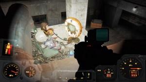 Bare en abe og en robot. der spiller Pong...