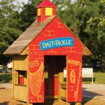 Wood playground wooden bait and tackle shop