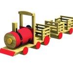 Wood playground scenic rail-rider