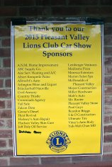 Thank you sponsors and the Lions Club, for the Car Show with the best attendance in 7 years.