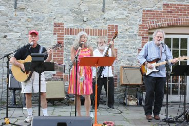 """The """"three4all"""" Band played at the Mill Site and Museum Park"""