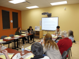 This is a photo of a justice innovation event in Tweed, Ontario, in May 2012.