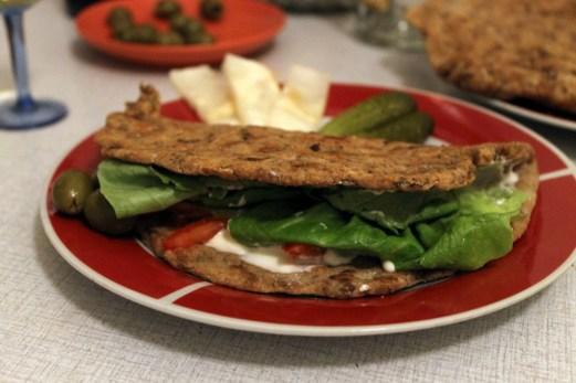 mushroom lentil flat bread recipe