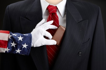 Uncle Sam picks businessman's pocket