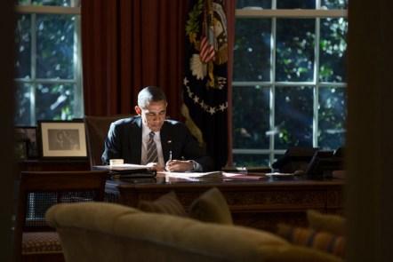 Obama at his desk