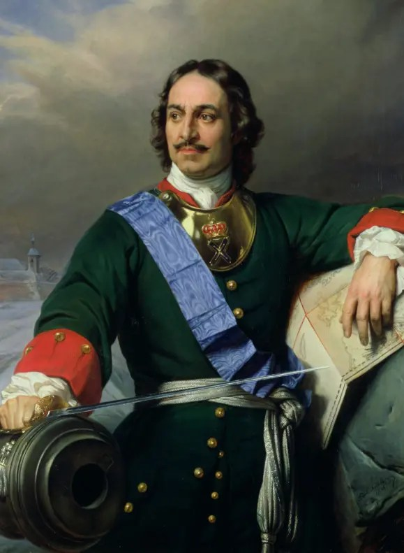 Portrait de Pierre le Grand réalisé au XIXème siècle par Paul Delaroche - Musée d'art de Hambourg