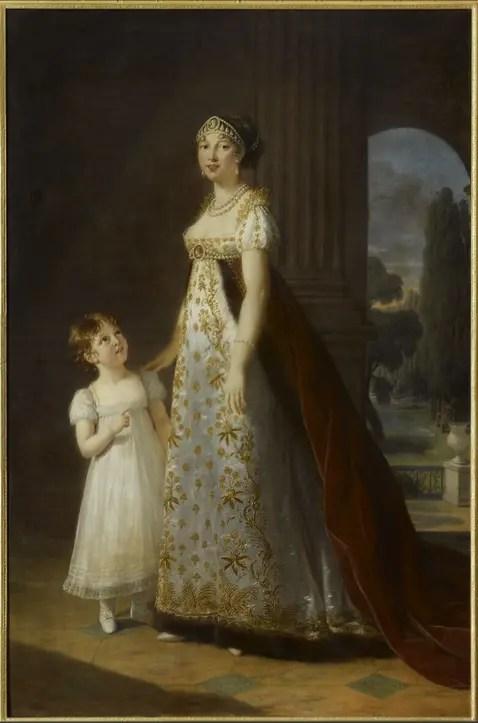 Portrait de Caroline Murat par Elisabeth Vigée Le Brun (1807) - Musée du château de Versailles