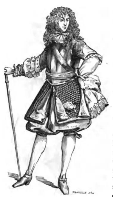 Officier général en 1670 (gravure sur bois)