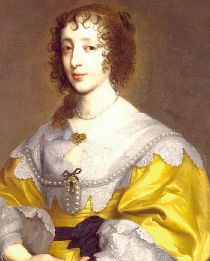 Henriette de France, soeur de Louis XIII, à la nouvelle mode