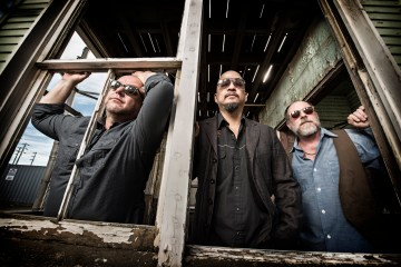 The Pixies photographed in San Francsico, CA February 22, 2014©Jay Blakesberg L-R:  Black Francis, Joey Santiago, David Lovering