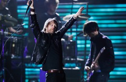 Lead singer Thom Yorke performs with his band Radiohead at the 51st annual Grammy Awards in Los Angeles