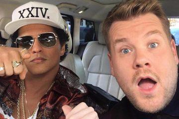 Bruno Mars se presentó en el Carpool Karaoke con James Corden. Cusica Plus